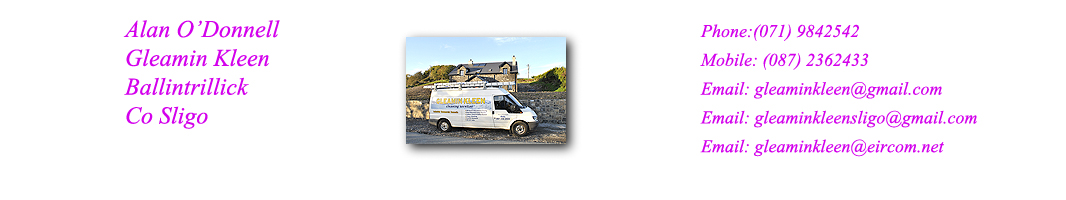 Gleamin Kleen Cleaning Services Ballintrillick Co Sligo